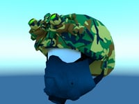 3D combat helmet night vision model