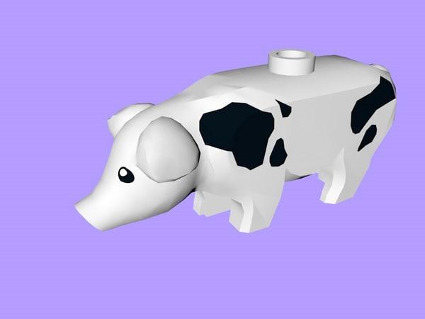 lego pig 3D model