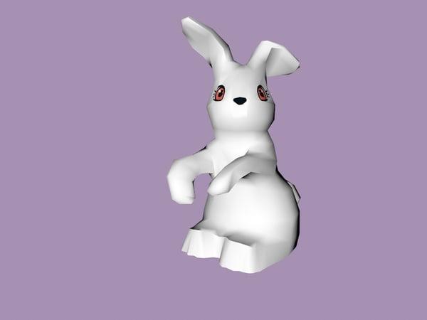lego rabbit 3D