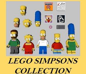 3D lego simpson