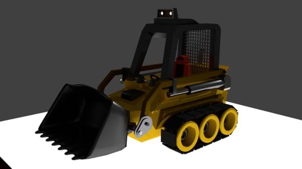 bulldozer cute 3D model