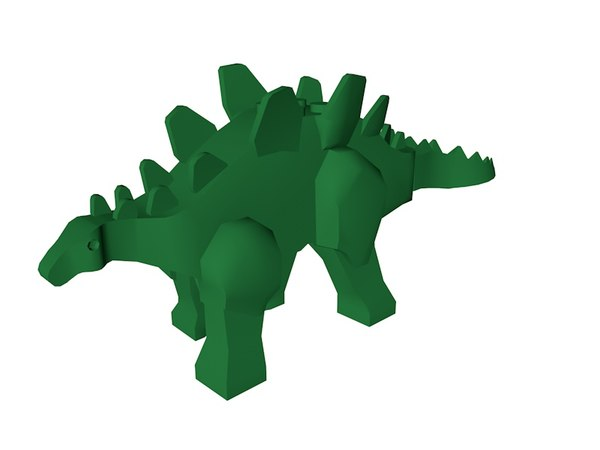 3D lego stegosaurus