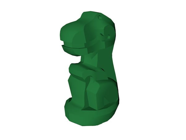 3D lego trex model