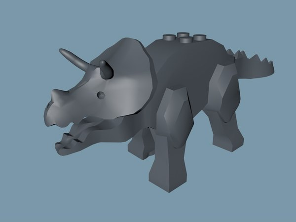 lego triceratops model