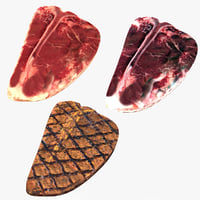 realistic t-bone steak 3D model