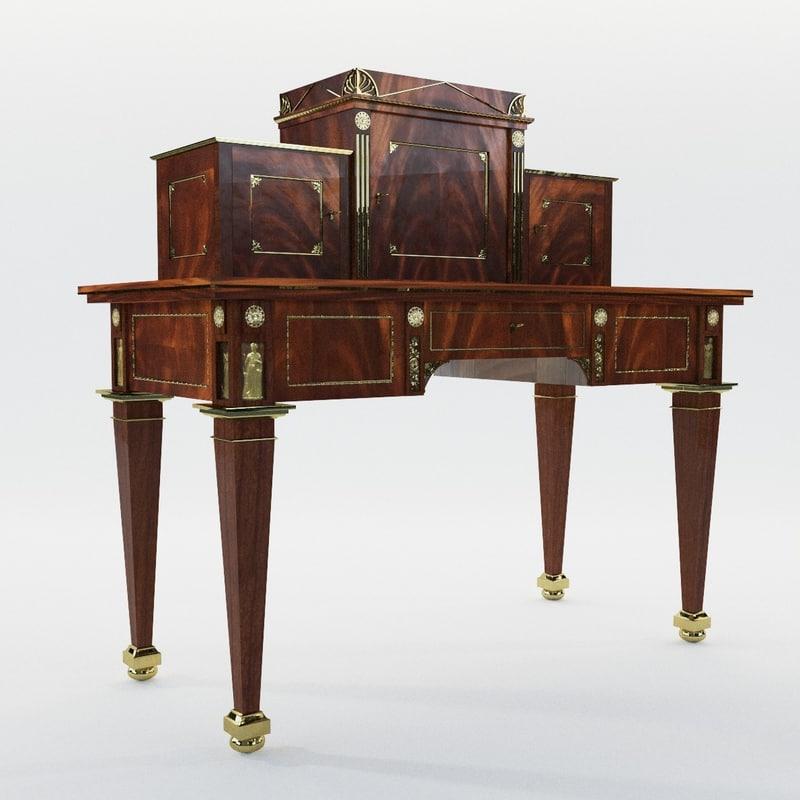 3D empire desk johannes model