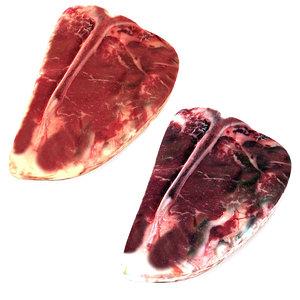 3D realistic raw steak