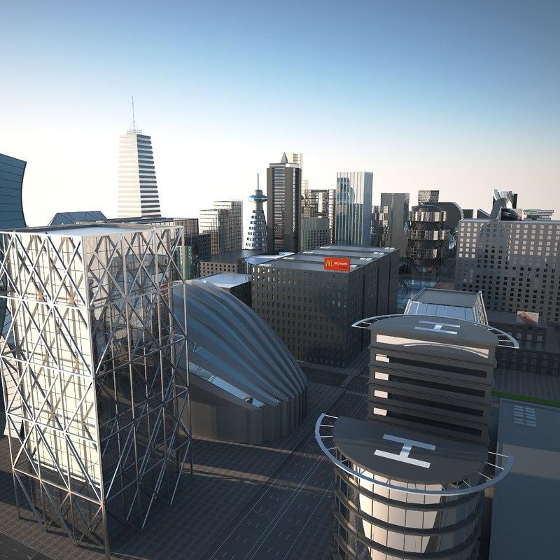 big city scene 3D