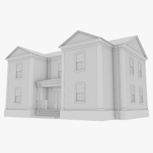3D model colonial house 8