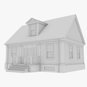 3D colonial house 10