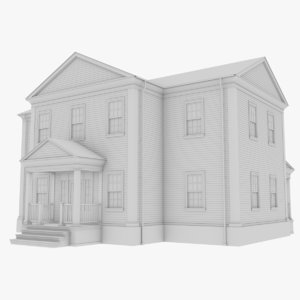colonial house 12 3D model