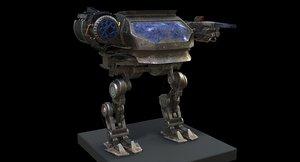 sci fi mecha 3D model