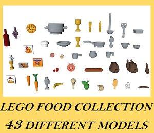 3D lego food