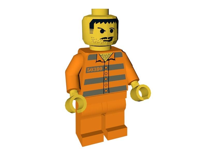 lego prisoner model