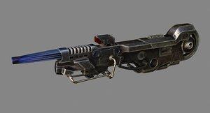 3D sci fi big gun