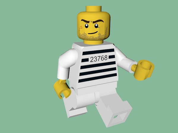 3D lego prisoner character model