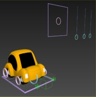 dynamic toon car rig 3D model