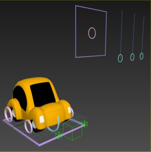 dynamic toon car rig 3D model