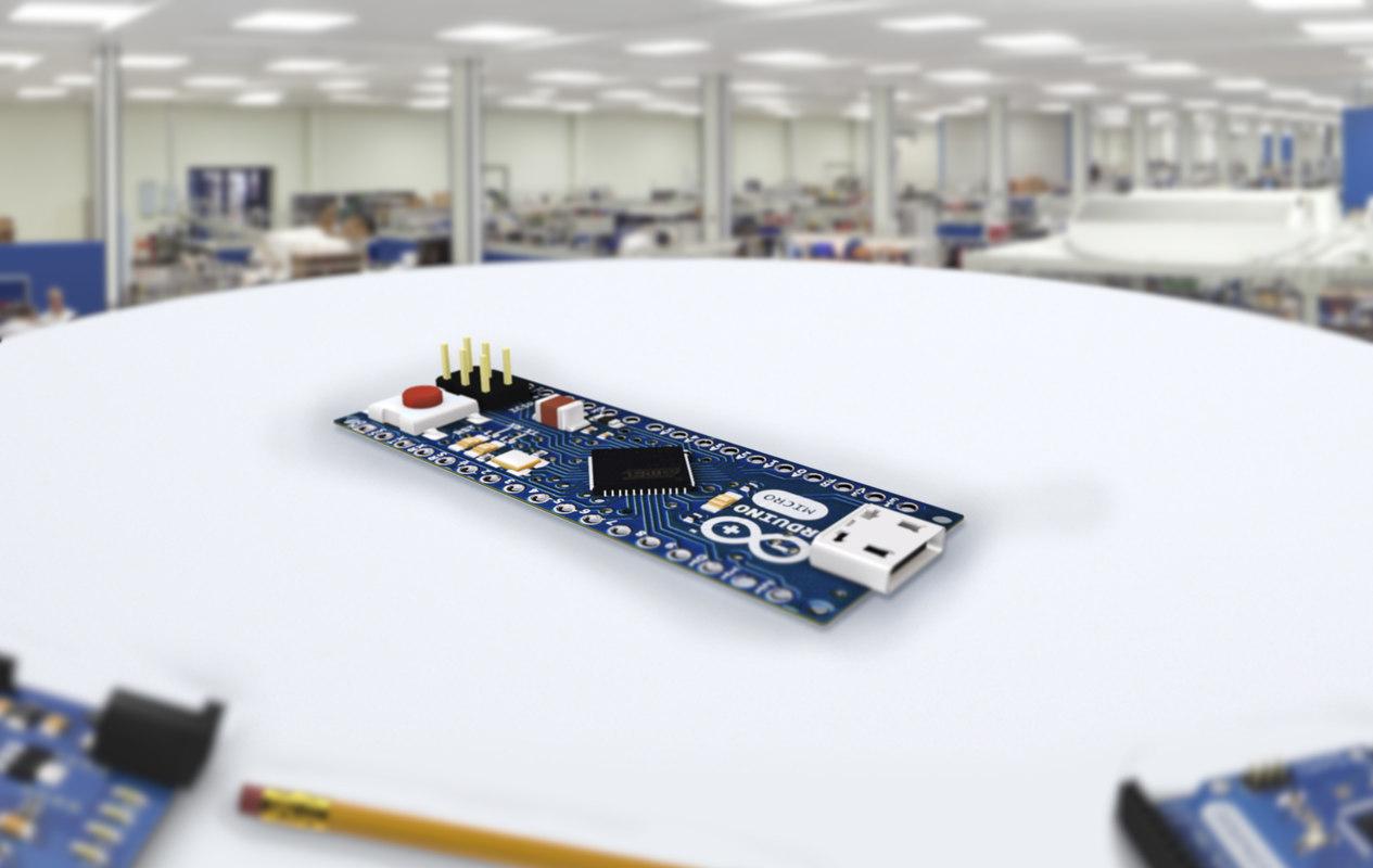 electronic arduino micro 3D model