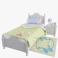 Kids Provence Bed with decor