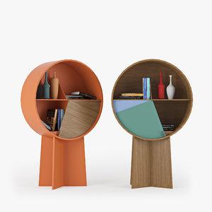 3D wood book