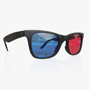 anaglyph glasses model