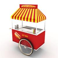 hot dog cart 3D