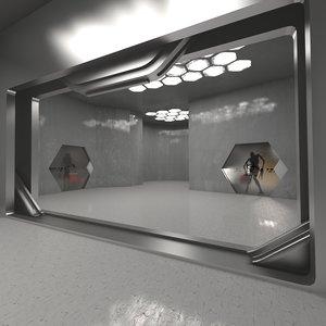 3D monster room model