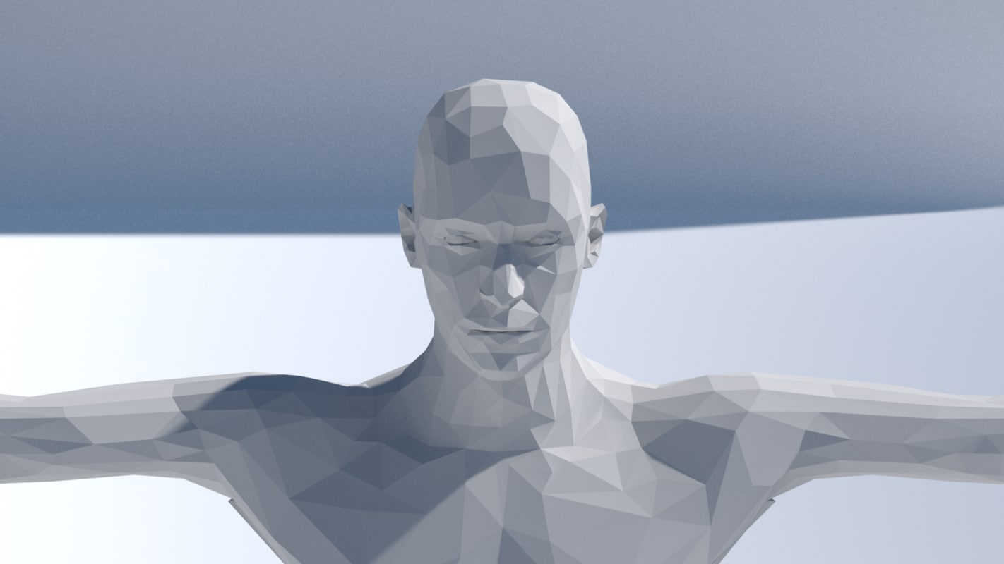 man rigged 3D