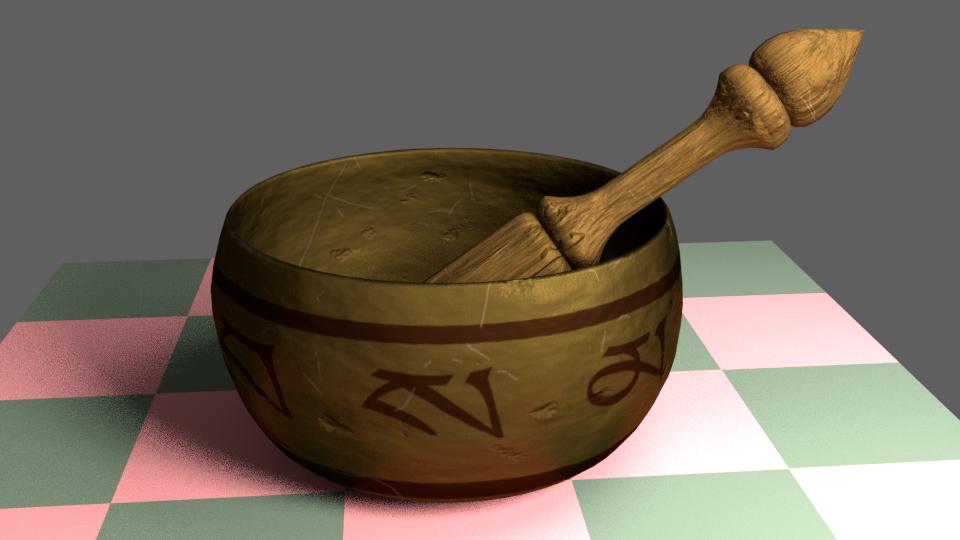 3D singing bowl model