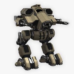battle mech 3D model