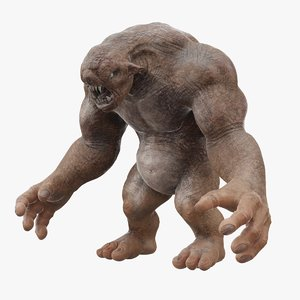 cave troll monster creature 3D model
