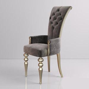 wooden chair 3D