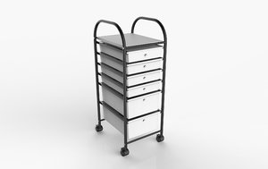 3D rolling cart model