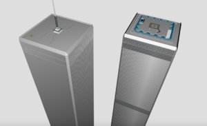 twin towers 3D model