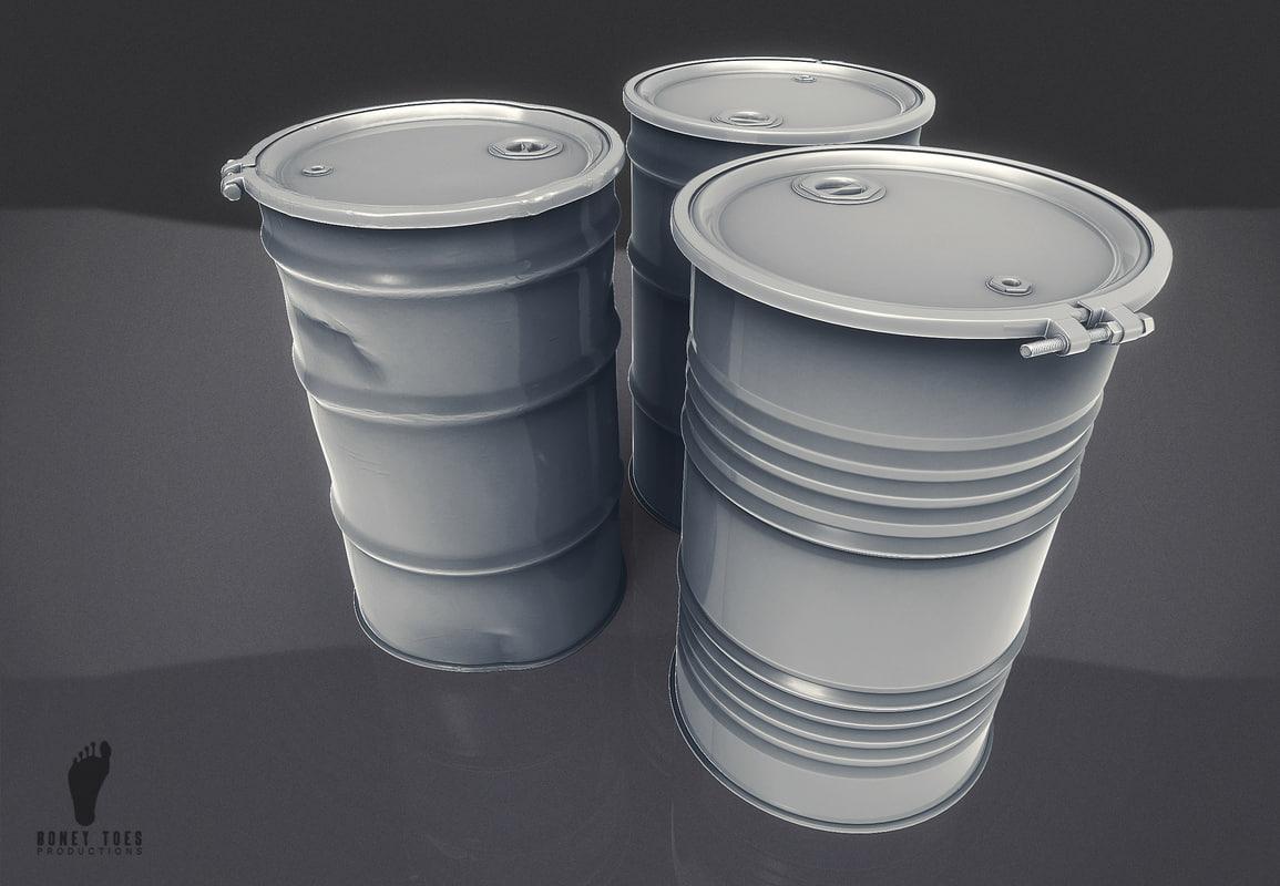 3D steel drums model