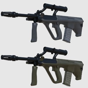 3D ready steyr aug assault rifle