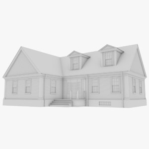 3D colonial house model