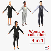 Business Womans 3D Models Collection 3
