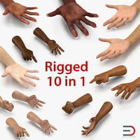 Rigged Hands Collection