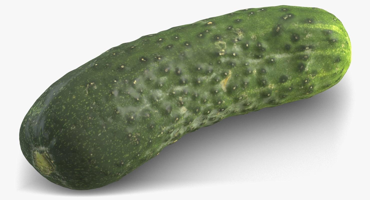 cucumber subdivision displacement 3D model