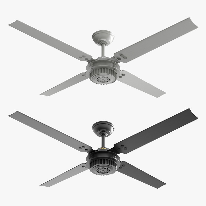 3D ceiling fan chronicle black model