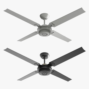 3D ceiling fan chronicle black model
