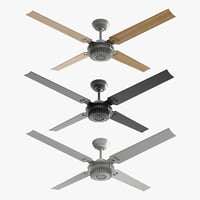 ceiling fan chronicle wood 3D model