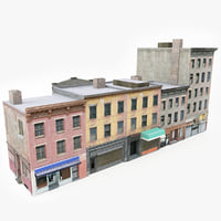 3D ready city building block model