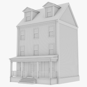 colonial townhouse 1 3D model