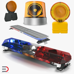 3D emergency warning lights