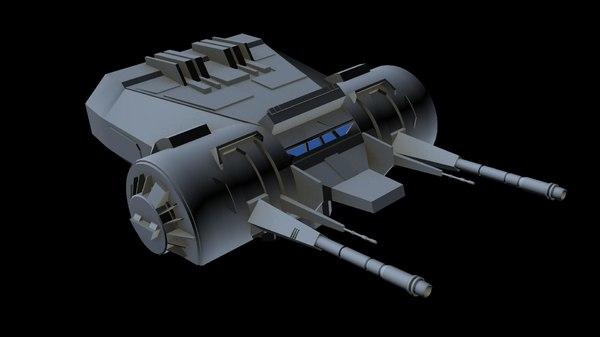 3D laser canon 4 model