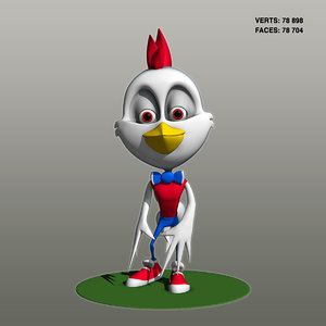 chicken character 3D
