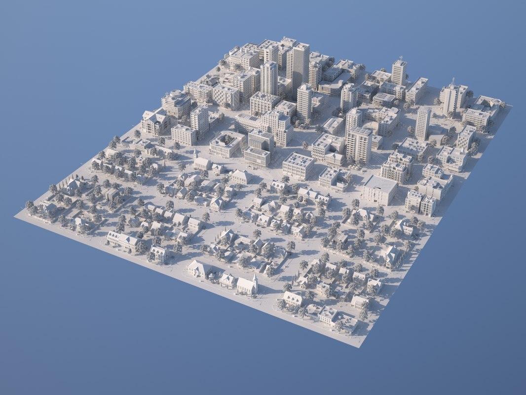 3D karton city 2 model